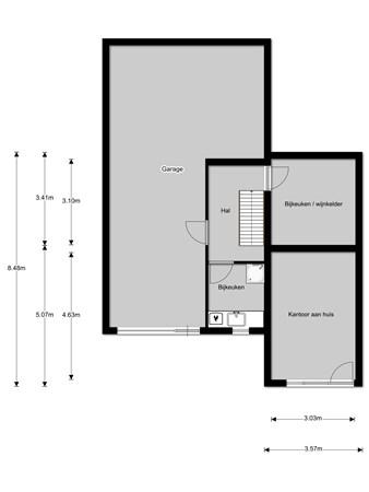 Floorplan - Hoefweg 179, 2665 LA Bleiswijk