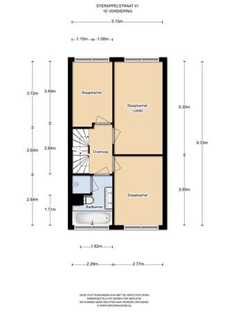 Floorplan - Sterappelstraat 41, 1036 LE Amsterdam