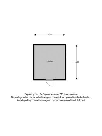 Floorplan - De Egmondenstraat 213, 1024 SJ Amsterdam