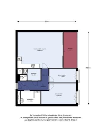 Floorplan - Eef Kamerbeekstraat 546, 1095 MP Amsterdam