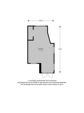 Floorplan - Buiksloterdijk 326, 1034 ZE Amsterdam