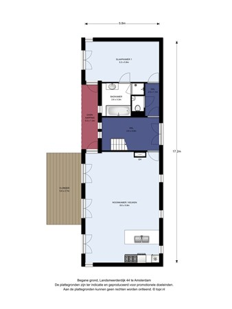 Floorplan - Landsmeerderdijk 44, 1035 PX Amsterdam