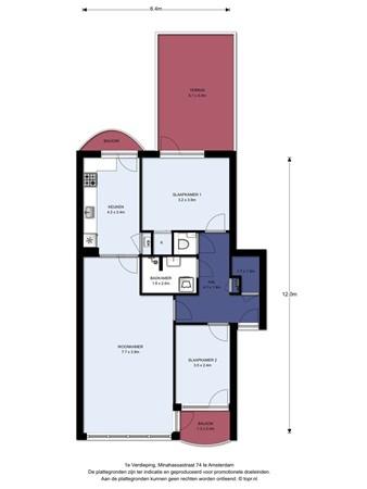 Floorplan - Minahassastraat 74, 1094 SB Amsterdam