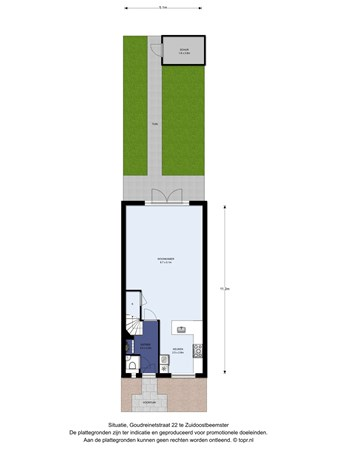 Floorplan - Goudreinetstraat 22, 1461 JN Zuidoostbeemster