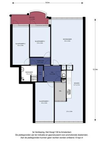 Floorplan - Het Hoogt 130, 1025 HC Amsterdam
