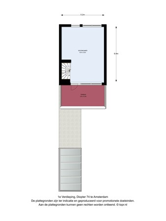 Floorplan - Diopter 74, 1025 MS Amsterdam
