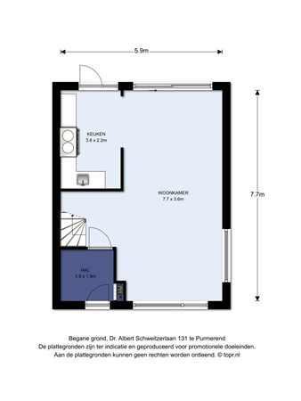 Floorplan - Dr. Albert Schweitzerlaan 131, 1443 WR Purmerend