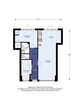 Floorplan - Azaleastraat 52, 1032 BX Amsterdam