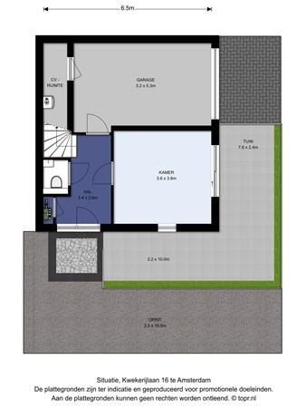 Floorplan - Kwekerijlaan 16, 1036 KC Amsterdam