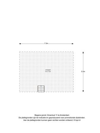 Floorplan - Groenlust 11, 1035 LD Amsterdam