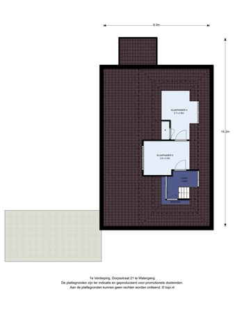 Floorplan - Dorpsstraat 21, 1454 AL Watergang