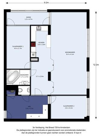 Floorplan - Het Breed 729, 1025 JA Amsterdam