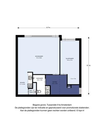 Floorplan - Tussendek 9, 1034 TN Amsterdam