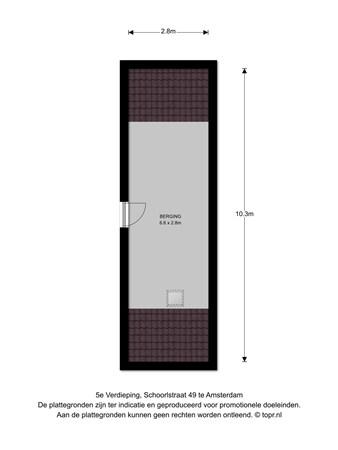 Floorplan - Schoorlstraat 49, 1024 PP Amsterdam