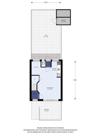 Floorplan - Amelandstraat 20, 1025 RK Amsterdam