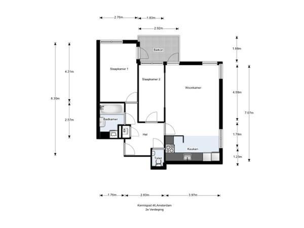 Floorplan - Kermispad 49, 1033 WZ Amsterdam