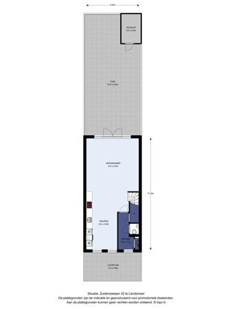 Floorplan - Zuiderzeelaan 32, 1121 RA Landsmeer