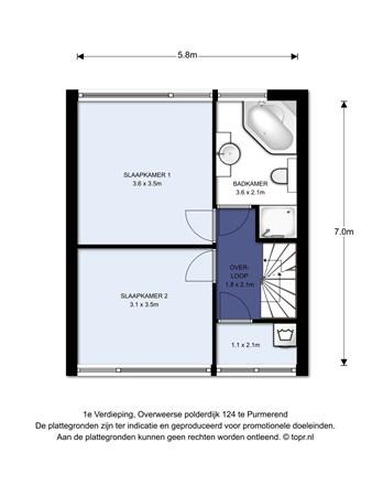 Floorplan - Overweerse Polderdijk 124, 1442 AE Purmerend