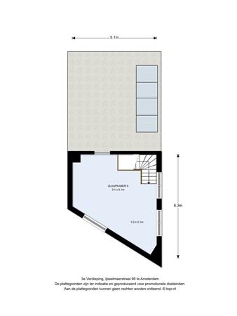Floorplan - Ijsselmeerstraat 95, 1024 ML Amsterdam