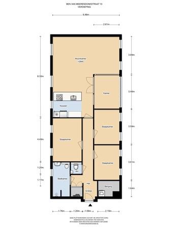 Floorplan - Ben van Meerendonkstraat 10, 1087 LE Amsterdam