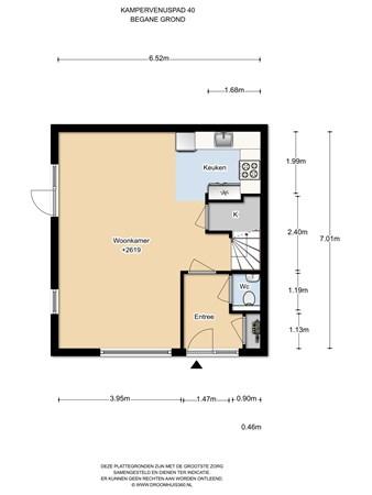 Floorplan - Kampervenuspad 40, 1036 KL Amsterdam