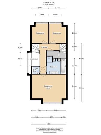 Floorplan - Zuideinde 108B, 1511 GJ Oostzaan