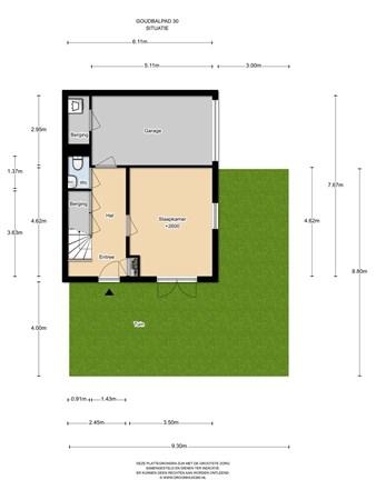 Floorplan - Goudbalpad 30, 1036 KH Amsterdam