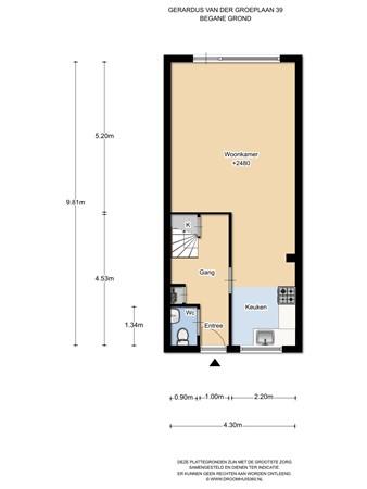 Floorplan - Gerardus Van Der Groeplaan 39, 1035 TM Amsterdam