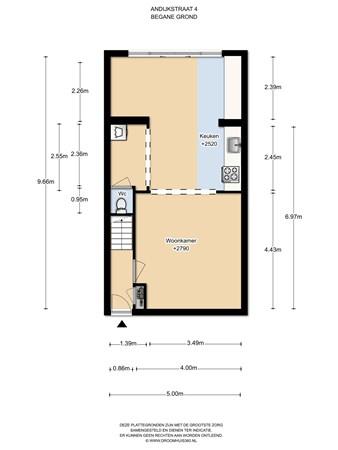 Floorplan - Andijkstraat 4, 1023 VW Amsterdam