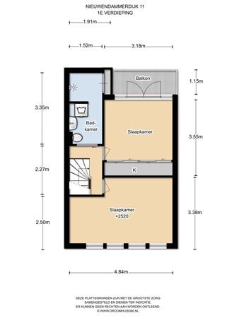 Floorplan - Nieuwendammerdijk 11, 1025 LC Amsterdam