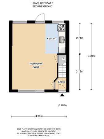 Floorplan - Uranusstraat 3, 1033 VV Amsterdam