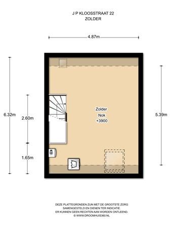 Floorplan - J.P. Kloosstraat 22, 1022 KD Amsterdam