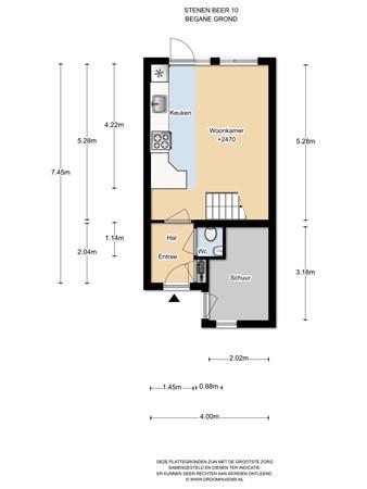Floorplan - Stenen Beer 10, 1035 JN Amsterdam