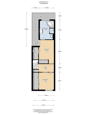 Floorplan - Dorpsstraat 37, 1452 PG Ilpendam