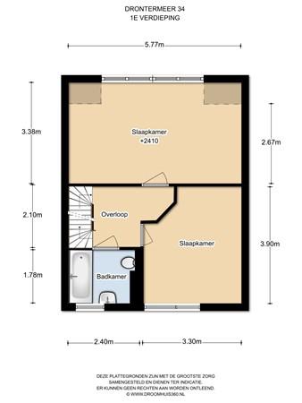 Floorplan - Drontermeer 34, 1447 JS Purmerend