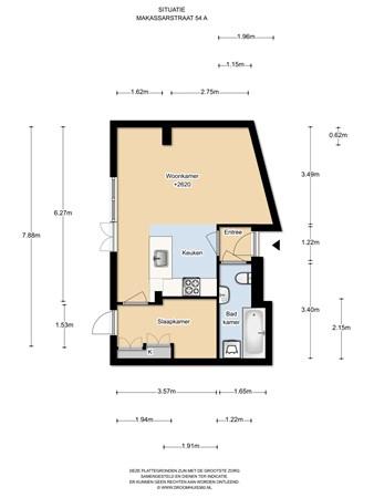 Floorplan - Makassarstraat 54A, 1095 TA Amsterdam