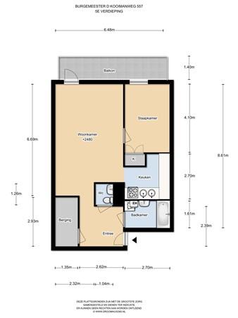 Floorplan - Burgemeester D. Kooimanweg 557, 1444 BP Purmerend