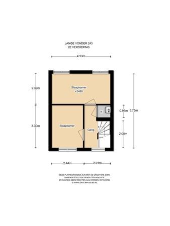 Floorplan - Lange Vonder 243, 1035 KW Amsterdam