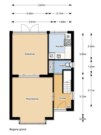 Floorplan - Tuinstraat 3, 1141 TN Monnickendam