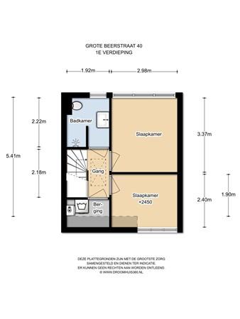 Floorplan - Grote Beerstraat 40, 1033 CZ Amsterdam