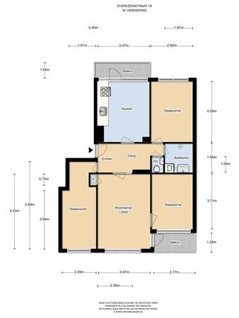 Floorplan - Overveenstraat 19, 1024 VV Amsterdam