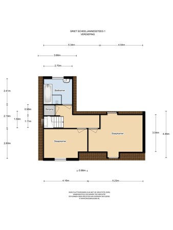 Floorplan - Griet Scheeljannessteeg 1, 1141 DZ Monnickendam