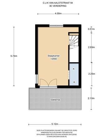 Floorplan - C.J.K. Van Aalststraat 94, 1019 JX Amsterdam