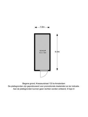 Floorplan - Krasseurstraat 133, 1033 DJ Amsterdam
