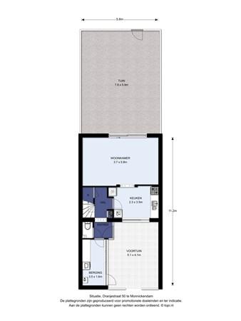 Floorplan - Oranjestraat 50, 1141 CS Monnickendam