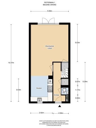 Floorplan - De Krom 218, 1131 PR Volendam