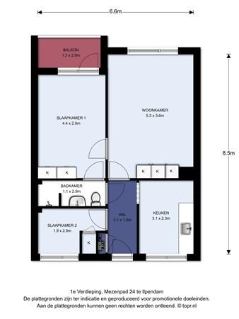 Floorplan - Mezenpad 24, 1452 XP Ilpendam