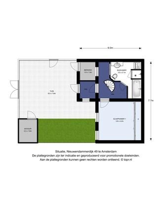 Floorplan - Nieuwendammerdijk 49, 1025 LD Amsterdam