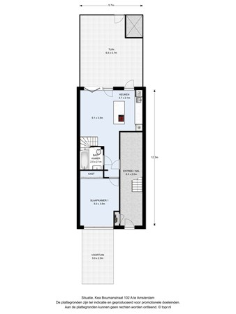 Floorplan - Kea Boumanstraat 102A, 1095 MA Amsterdam