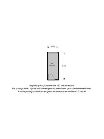 Floorplan - Loenermark 130, 1025 SM Amsterdam